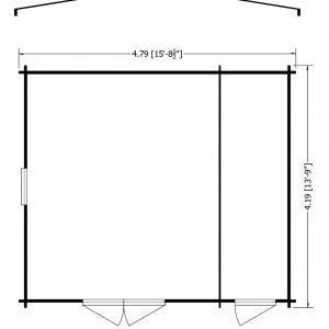 Bourne Log Cabin 16x14