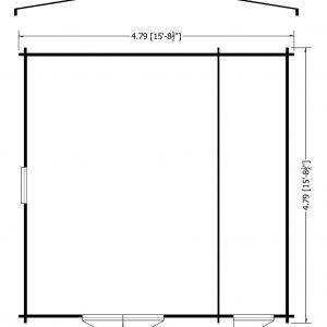 Bourne Log Cabin 16x16